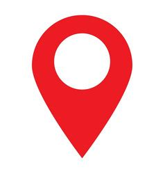 geo location pin icon flat royalty free vector image