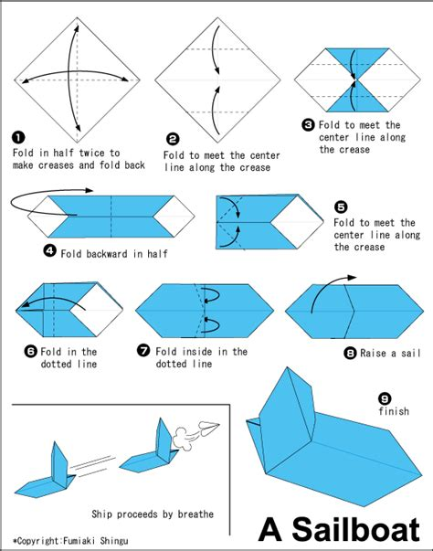 sailboat easy sailboat easy origami instructions for kids