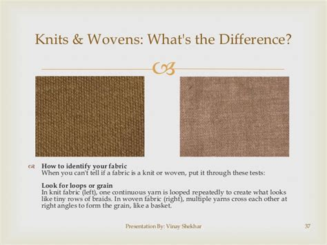 difference between knit and woven fabric for retail staff
