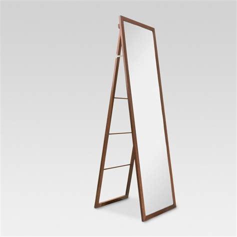 wood ladder standing floor mirror walnut threshold target