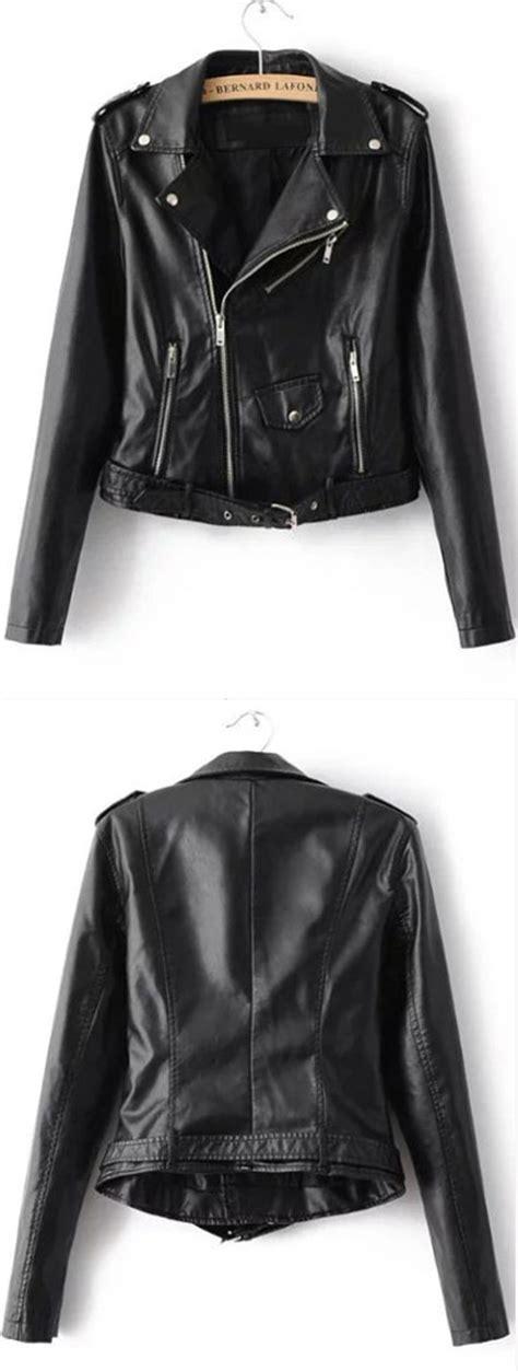 Jaket Uber Model Varsity Baseball Vub1 black faux leather belted moto jacket with zipper