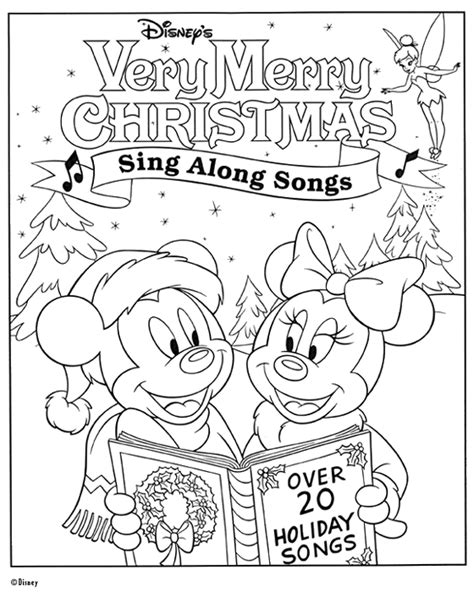 Free printable disney christmas coloring pages 8 free printable disney