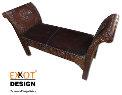 moroccan chaise lounge moroccan wooden italian leather chaise lounge
