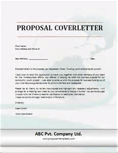 cover letter template proposal