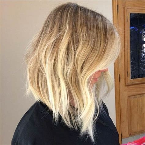 a line haircut ombre color 47 hot long bob haircuts and hair color ideas page 2 of