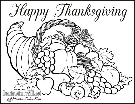 thanksgiving food coloring pages happy easter