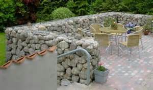Garden gabion stone walls and fences are easy to build simple gabion