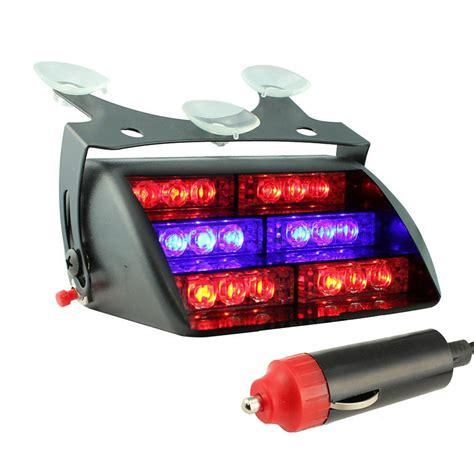 emergency vehicle strobe lights car 18 led 3 mode emergency vehicle dash warning