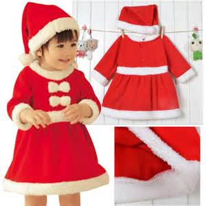 Baby girl romper toddlers christmas dresses winter hat bow outfits