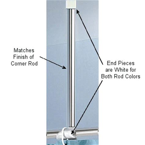 corner shower curtain rod ceiling support corner rods for shower curtains white aluminum and