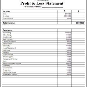 Profit And Loss Statement Template With Blue Table And Blank Company Logo Helloalive Free Basic Profit And Loss Statement Template