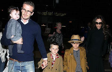 david beckham and his family biography photos beckham and brood staying in l a