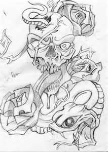 SnakeSkull and Rose by maxkill300 on DeviantArt