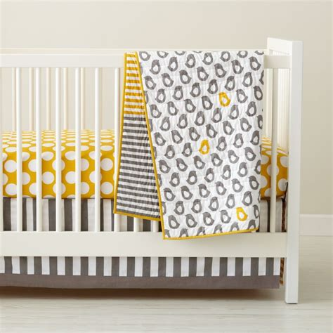 Gray Crib Set by Baby Crib Bedding Baby Grey Yellow Patterned Crib