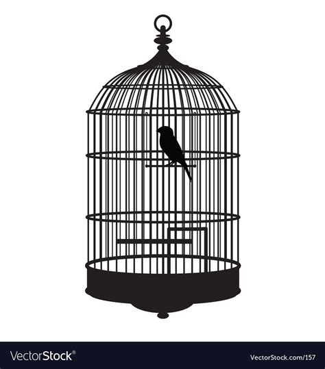how to your to stay in the cage bird cage royalty free vector image vectorstock