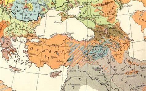 Ottoman Empire 1914 Map Big Blue 1840 1940 Turkey In Asia Anatolia