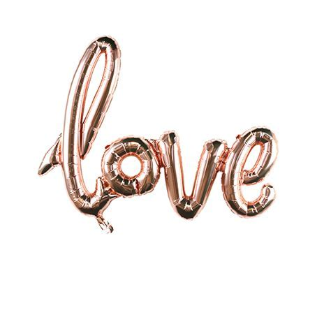 Champagne Pink Inflatable LOVE Balloons   Skylantern