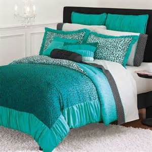 Details about candies wild thing teal leopard comforter twin xl dorm