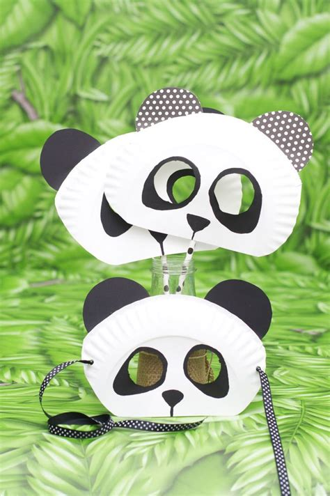 panda crafts for 17 best ideas about paper plate masks on paper