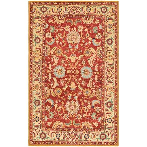 Safavieh Chelsea Red Ivory 8 Ft 9 In X 11 Ft 9 In Area 9 X 9 Area Rug