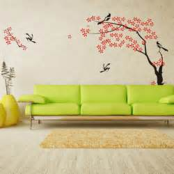 Modern living room wall paint stickers decals decorating designs ideas