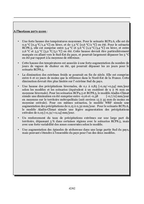 Rapport d'experts sur l'évolution du climat en France au