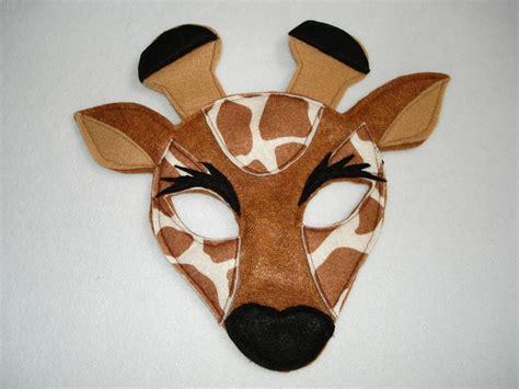 printable giraffe animal masks children s safari animal giraffe felt mask