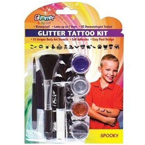 tattoo kit walmart glimmer art glitter tattoo kit spooky walmart com