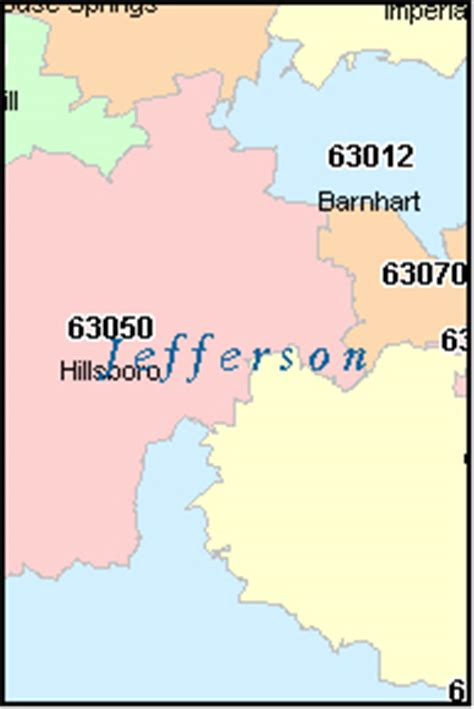 zip code map missouri jefferson county missouri digital zip code map