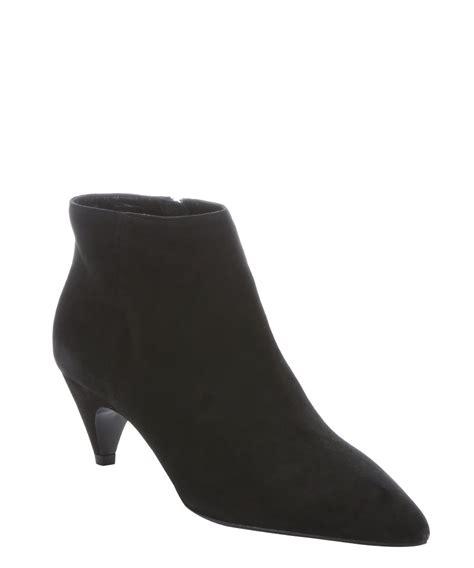 prada women s black suede kitten heel ankle boots galyshoe