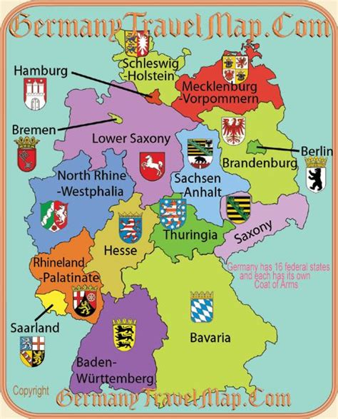 states germany map a map of german states scouts german