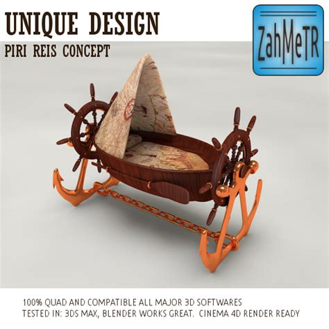 Pirate Ship Crib by Pirate Boat Crib Piri Reis Concept By Zahmetr 3docean