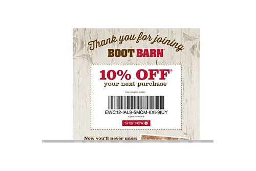 boot barn coupons september 2018