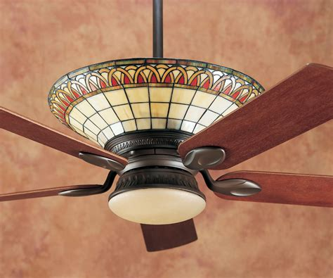 stained glass ceiling fan hunter charmaine tiffany craftsman ceiling fan model 28425
