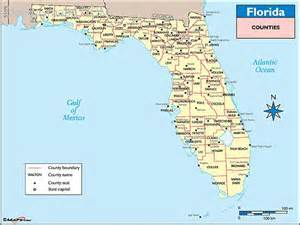 map of florida counties map travel