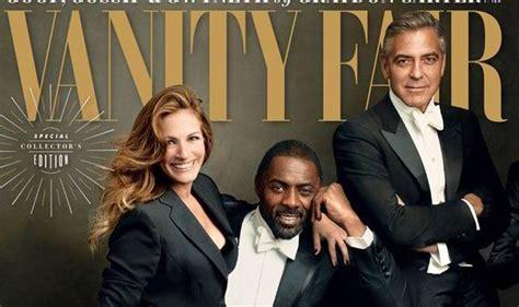 George Clooney Vanity Fair by Leggy Takes A Seat On Idris Elba S