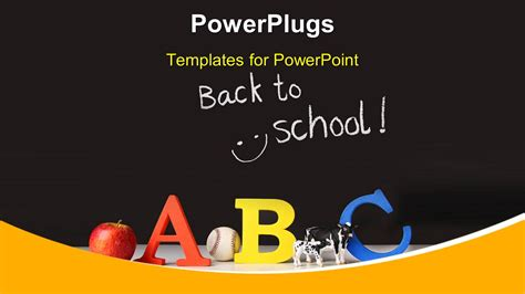 Powerpoint Template Elementary Concept Of Abc On A Black Background 2640 Elementary School Powerpoint Templates