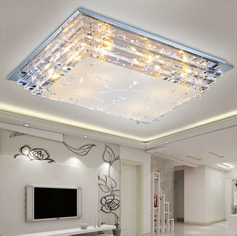 No Ceiling Light In Living Room Aliexpress Buy Modern Minimalist Ceiling Light E27crystal Led Ceiling Light For Living