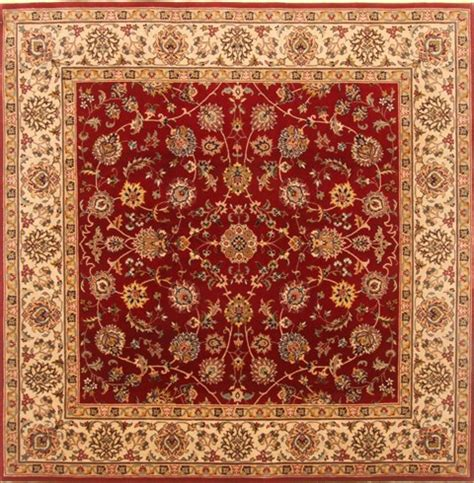 square wool area rugs indian isfahan square 5 to 6 ft wool carpet 20845