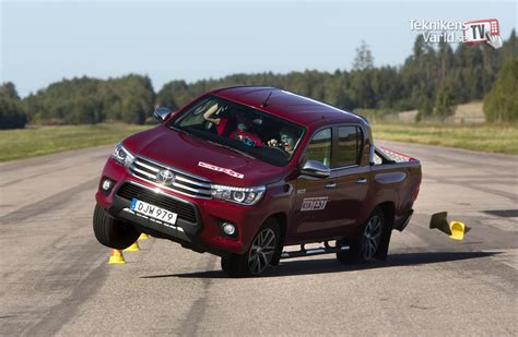 the closest toyota the new toyota hilux close to tipping over teknikens v 228 rld