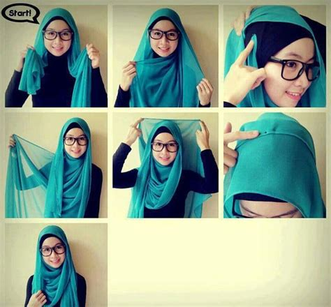 tutorial hijab berkacamata simple 30 hijab styles step by step style arena