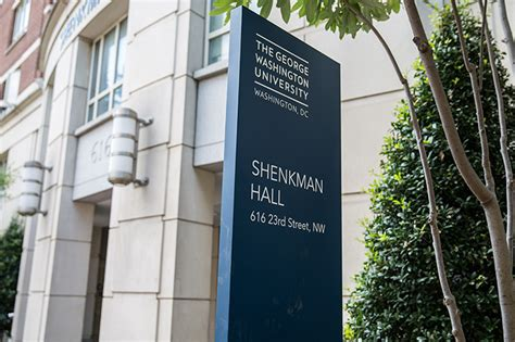 Gwu Mba Course Requirements by Dedicates Shenkman Gw Today The George