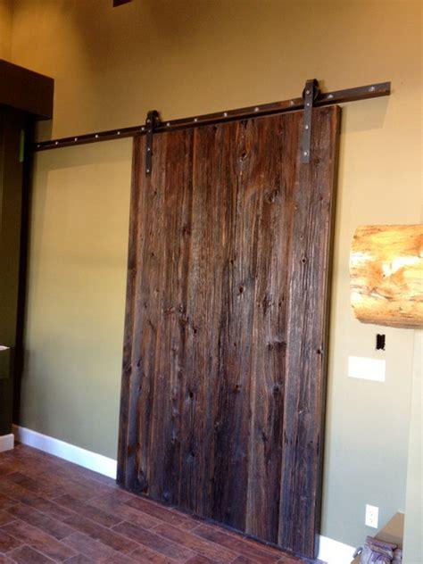 Sliding Wood Barn Doors Interior Sliding Barn Door Grey Hemlock Xl Eclectic Interior Doors By Porter Barn Wood Llc
