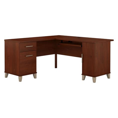 60 inch computer desk bush somerset l shaped 60 inch computer desk desks at