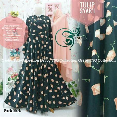 Cym Syari Bublle Magenta Baju Muslim Gamis gamis tulip syar i bahan wolfis hitam baju muslim