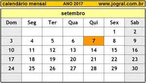 Calendario Do Mes De Setembro De 2017 Calend 225 Mensal Setembro De 2017 Imprimir M 234 S De