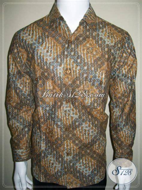 Kemeja Batik Sogan Tangan Panjang kemeja batik tangan panjang lengan lipat batik anak muda