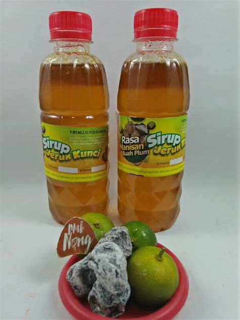 Sirup Kietna Dan Plum jual sirup jeruk kunci rasa buah plum 330 ml mak neng
