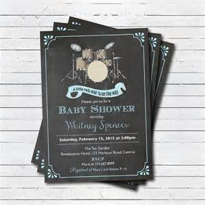 rock n roll rockstar baby shower invitation gender neutral