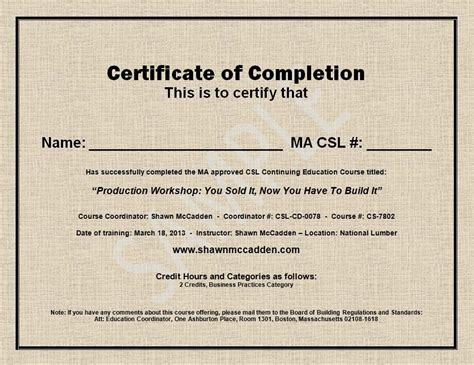 cer house house completion certificate sle india gallery certificate design and template